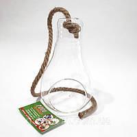 Декорация стеклянная подвесная лампочка, Н28см, 18037