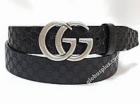 Ремень мужской кожаный Gucci, ширина 40 мм., реплика 930616