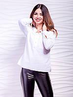 🌺 Стильная женская рубашка блузка белая, фото 1