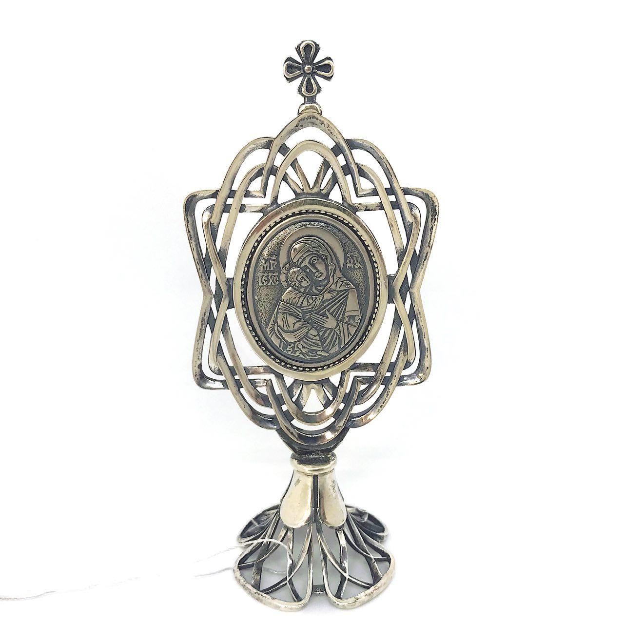 Икона из серебра 925 пробы Брюс Богородица
