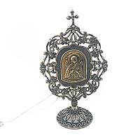 Икона настольная из серебра 925 пробы Брюс Богородица Семистрельная, фото 1