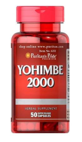 Йохимбин Puritan`s Pride - Yohimbe 2000 (50 капсул)