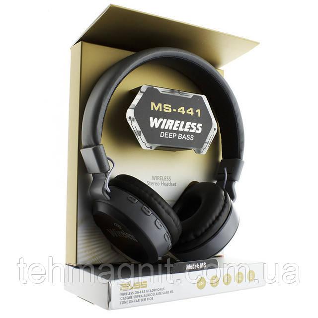 Наушники MS-441 Bluetooth, блютуз наушники безпроводные Реплика