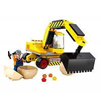 Конструктор, лего-подобный, - строительная техника, экскаватор, 29417