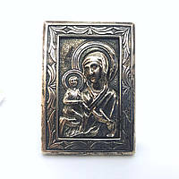 Икона из серебра 925 пробы Брюс Богородица настольная, фото 1