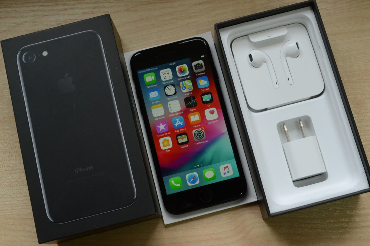 Новый Apple Iphone 7 256Gb Jet Black Оригинал!