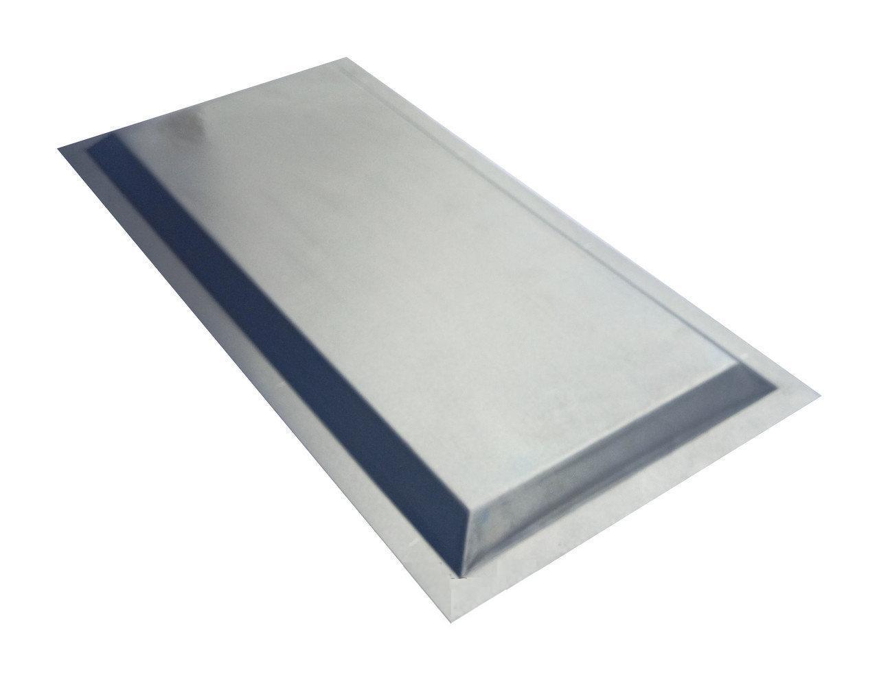 Филенка металлическая для ворот и калиток, 250Х500мм. Шоколад