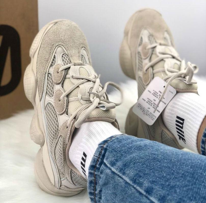 23bcba55 Adidas Yeezy 500 Blush | кроссовки женские и мужские; бежевые /  темно-кремовые