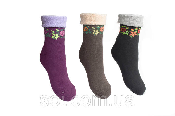 Носки махровые теплые женские 23-25 р. (36-40) * 44, фото 2