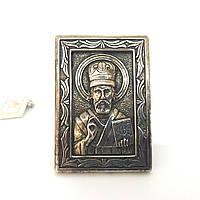 Икона из серебра 925 Брюс Николай Чудотворец настольная