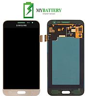 Дисплей (LCD) Samsung J320H/ DS Galaxy J3 (2016) TFT с сенсором золотой