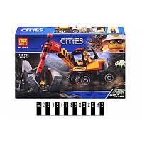 Конструктор типа лего из серии City - строительная техника, экскаватор, 3749