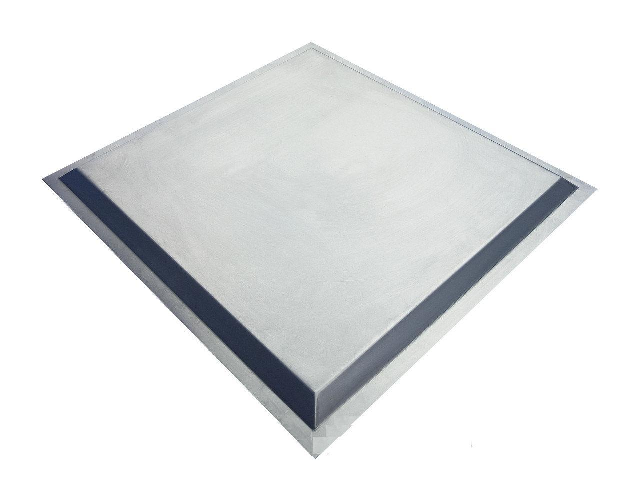 Филенка металлическая для ворот и калиток, 500Х500мм. Шоколад
