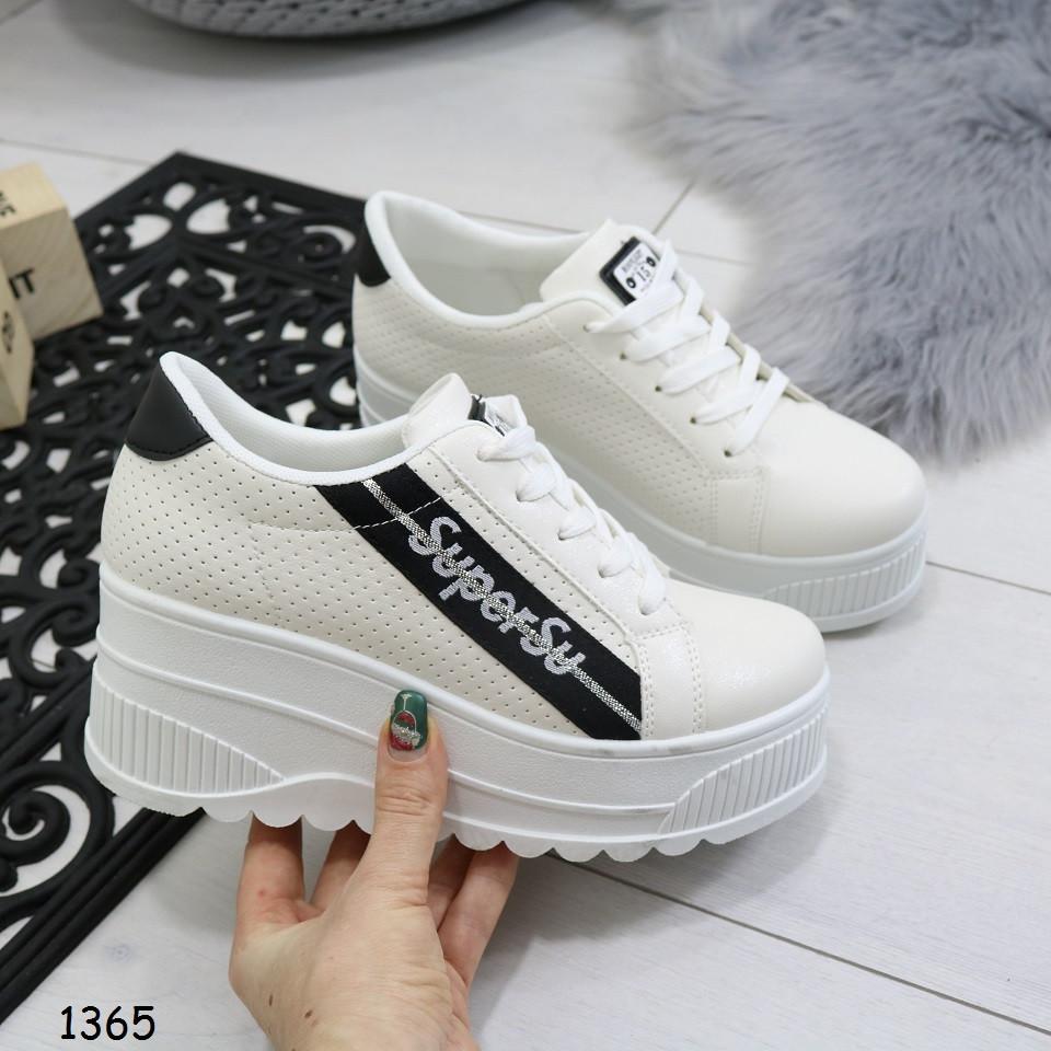 26090c71 Кроссовки на танкетке, белые, удобные, стильные, женская спортивная обувь