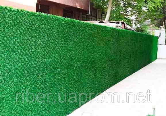 Сетка рабица с ПВХ покрытием Н- 1м. Dark Green (зеленый забор), фото 2