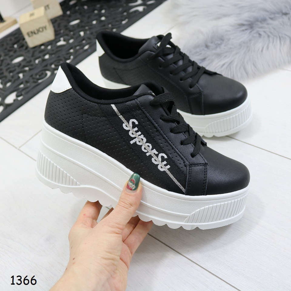 419aba11 Кроссовки на танкетке, черные, удобные, стильные, женская спортивная обувь  - Интернет-