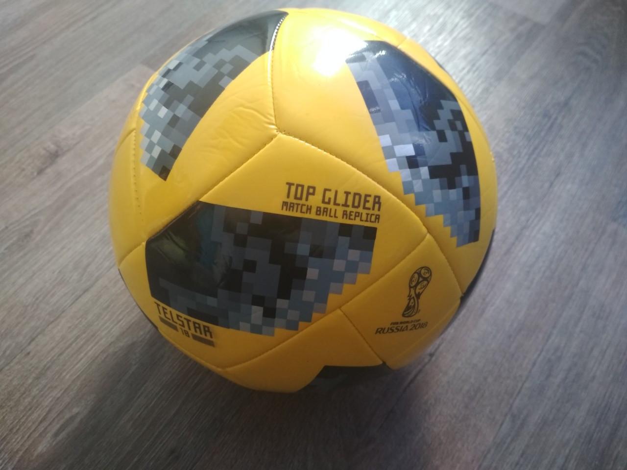 Мяч футбольный yellow Adidas 2018 FIFA World Топ реплика Cup