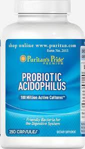 Puritan's Pride Probiotic Acidophilus 250 капсул, фото 2