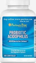 Puritan's Pride Probiotic Acidophilus 250 капсул