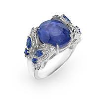 Кольцо серебряное с сапфиром 003 размер 17