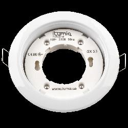 Встраиваемый светильник Ilumia под лампу GX53, Белый, 105мм (048)