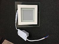 Потолочный светодиодный  светильник 18W Стекло