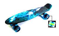 """Детский скейт Penny Board """"Galaxy"""" 22 Светящиеся колеса. Детские пенни борды, фото 1"""