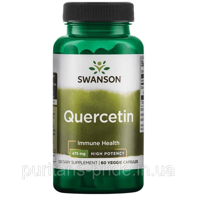 Иммунитет, Кверцетин экстракт, Swanson High Potency Quercetin, 475 мг 60 капсул