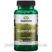 Імунітет, Кверцетин екстракт, Swanson High Potency Quercetin, 475 мг 60 капсул