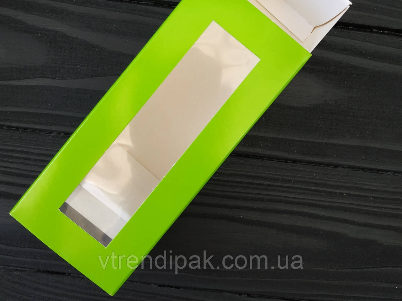 Коробка для macarons 140*50*60 салатовий