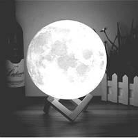 3D ночник на сенсорном управлении с рельефом луны