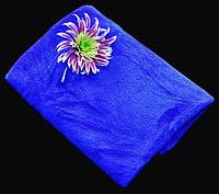Полотенце Микрофибра 300 г/м2 (35 х 75 см) для спорта, массажа, йоги, туризма синий цвет