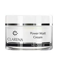 Легкий матирующий крем для ухода за жирной и комбинированной мужской кожей Clarena 50 мл