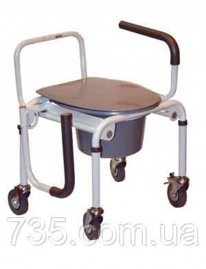 Стул для туалета на колесах с откидным подлокотником OSD, фото 2