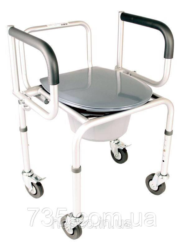 Стул-туалет алюминиевый на колесах OSD-RB-A2107DW