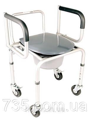 Стул-туалет алюминиевый на колесах OSD-RB-A2107DW, фото 2