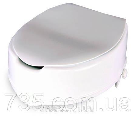 Туалетное сиденье с фиксатором и крышкой «TESEO» (14 см) OSD-TESEO-14LPP, фото 2