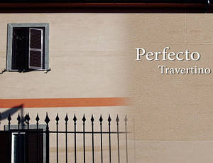 Итальянская фасадная штукатурка PERFECTO TRAVERTINO