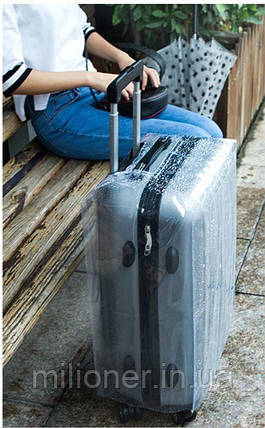 Чехол для чемодана 20 прозрачный, фото 2
