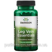 Поддерживает кровообращение, способствует развитию сильных вен, Swanson, Leg Vein Essentials 60  capsules