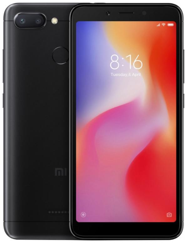 """Xiaomi Redmi 6 Black 3/64 Gb, 5.45"""", Helio P22, 3G, 4G (Global)"""