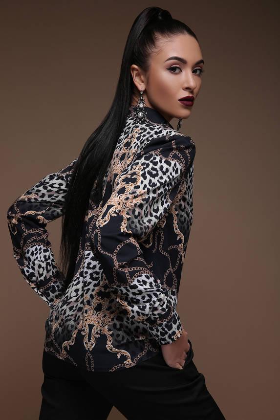 Нарядная леопардовая женская блузка, фото 2