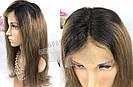 ✨ Прямой, длинный русый парик с темными коричневыми корнями ✨, фото 5