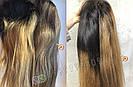 ✨ Прямой, длинный русый парик с темными коричневыми корнями ✨, фото 9
