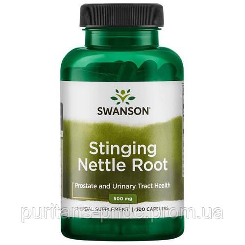 Для простаты и мочевых путей, Корень крапивы, Stinging Nettle Root, Swanson, 500 мг, 100 капсул
