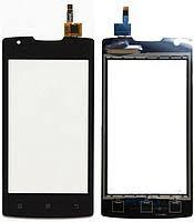 Тачскрин сенсор Lenovo A1000 IdeaPhone черный (HQ)