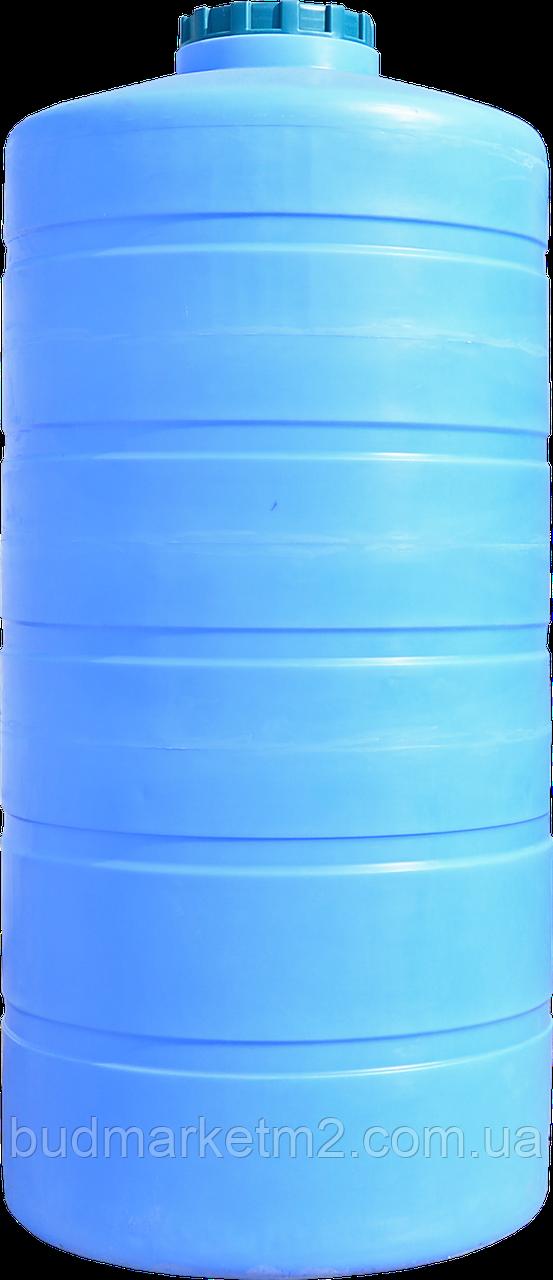 Емкость вертикальная круглая  1500 л