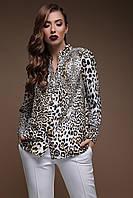 a067e6d762d Модная женская свободная блузка с длинным рукавом в тренодовый принт  Леопард Эльвира д р