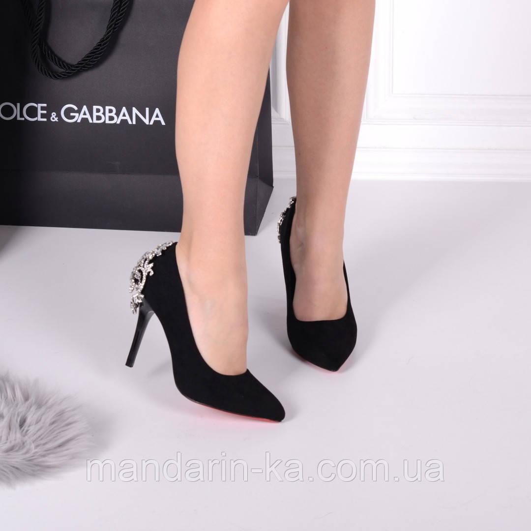 Женские туфли лодочки черные 9,5 см