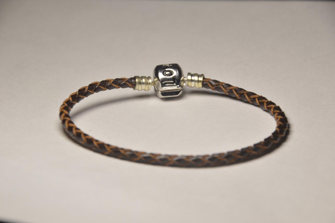 Браслет пандора, кожаный браслет пандора, браслет для шармов пандора, пандора